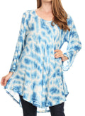 Sakkas Gilda Women's Summer Casual Short/ Long Sleeve Swing Dress Tunic Cover-up#color_19259-RoyalBlue