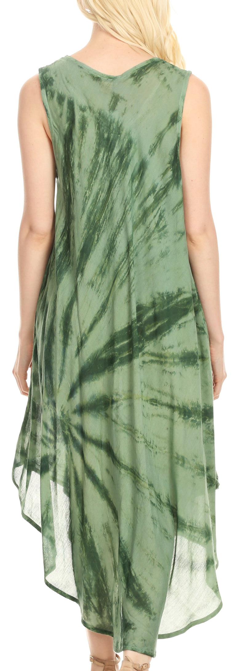 Sakkas Tia Women's Casual Summer Maxi Loose Fit Sleeveless Tank Dress Cover-up