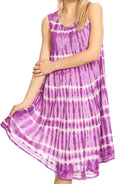 Sakkas Tina Women's Casual Summer Loose Sleeveless Tank Midi Dress Cover-up#color_19326-Violet
