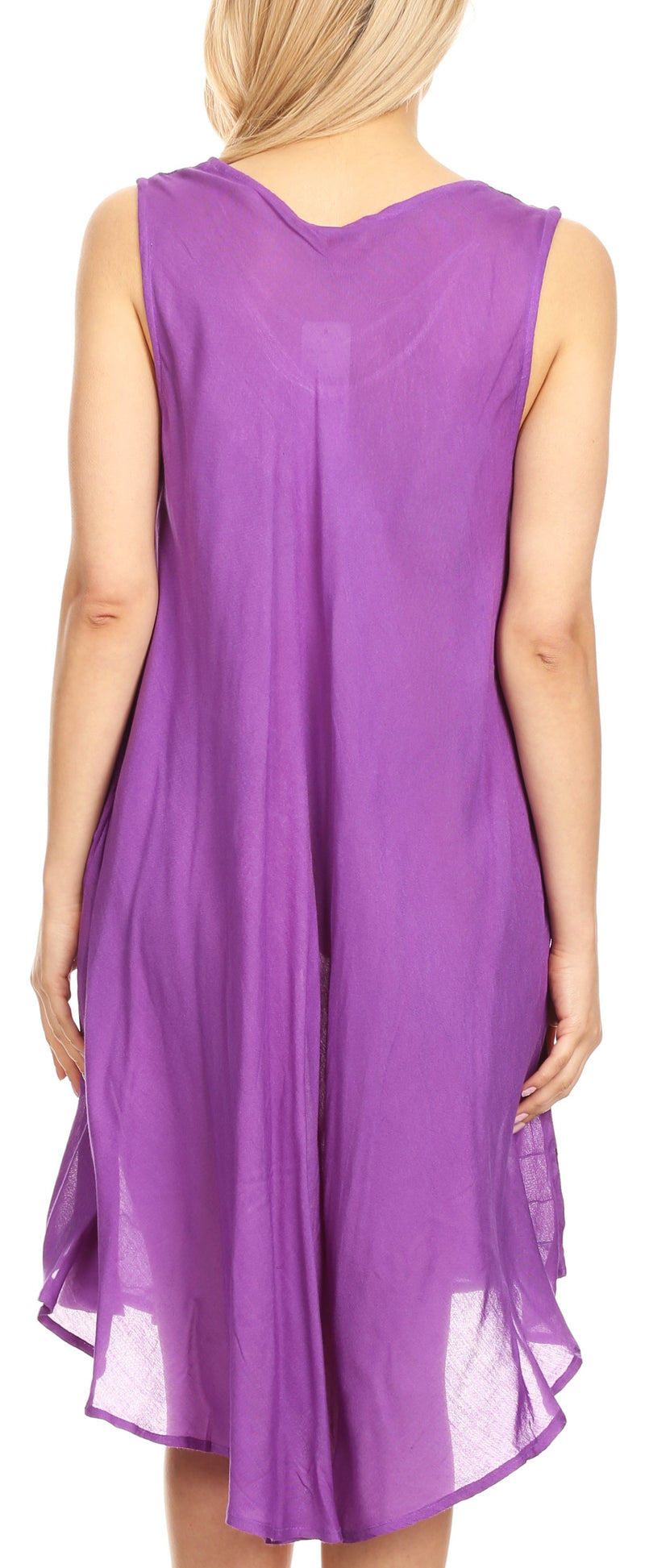 Sakkas Tina Women's Casual Summer Loose Sleeveless Tank Midi Dress Cover-up