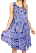 Sakkas Milly Women's Midi Loose Casual Summer Sleeveless Dress Sundress Cover-up#color_19325-Periwinkle