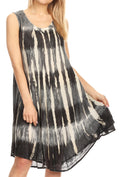 Sakkas Milly Women's Midi Loose Casual Summer Sleeveless Dress Sundress Cover-up#color_Black