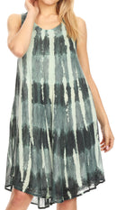 Sakkas Milly Women's Midi Loose Casual Summer Sleeveless Dress Sundress Cover-up