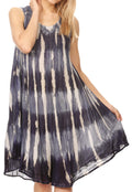 Sakkas Milly Women's Midi Loose Casual Summer Sleeveless Dress Sundress Cover-up#color_Navy