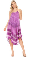 group-19335-Lavender (Sakkas Nila Women's Double Spaghetti Strap V-neck Casual Maxi Long Summer Dress)