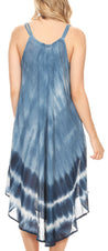 group-19335-SteelBlue (Sakkas Nila Women's Double Spaghetti Strap V-neck Casual Maxi Long Summer Dress)