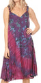 Sakkas Rute Women's Sleeveless V-neck Ruched Flared Loose Midi Summer Casual Dress#color_Purple