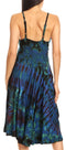 Sakkas Luzia Women's Sleeveless Midi Flared Casual Summer Dress V-neck Knit#color_Blue Chololate