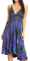 Sakkas Luzia Women's Sleeveless Midi Flared Casual Summer Dress V-neck Knit#color_Purple