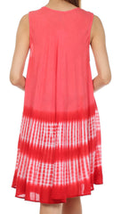 Sakkas Stripe Tie Dye Tank Sheath Dress / Cover Up
