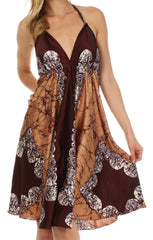Sakkas Isis Silky Halter Dress