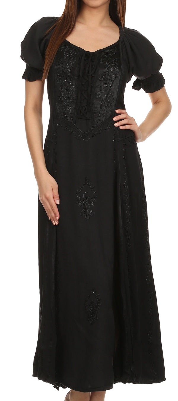 Sakkas Bridget Renaissance Dress#color_Black