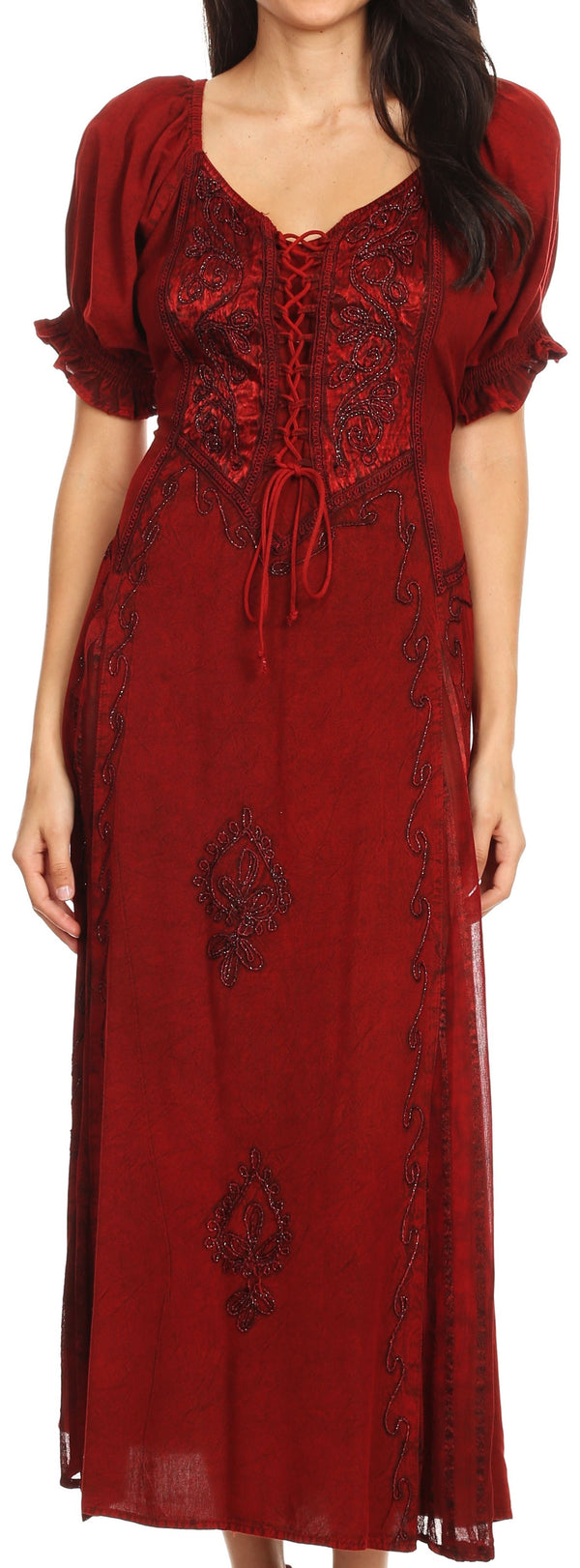 Sakkas Sakkas Bridget Embroidered Renaissance Dress