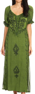 Sakkas Bridget Renaissance Dress#color_Green