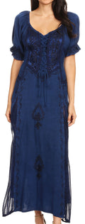 Sakkas Bridget Renaissance Dress#color_Navy