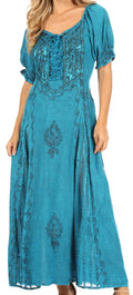 Sakkas Bridget Renaissance Dress#color_Turquoise Blue