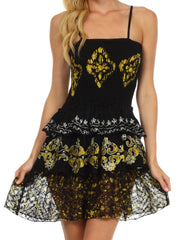 Sakkas Raji Batik Hem Tunic Short Dress