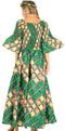 Sakkas Ina Women's African Ankara Print Wide Leg Jumpsuit Dress Of the Shoulder#color_22-Multi