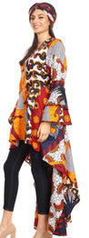 group-120-White/Burgundy (Sakkas Mavi Women's African Ankara Maxi Long Sleeve Dress Cocktail Formal Swing)