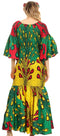 Sakkas Zarah Women's African Ankara Body-con Off shoulder Mermaid Pocket Dress