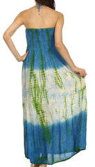 Sakkas Athena Multi-Color Tie Dye Smocked Dress