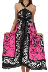 Sakkas Silky Wrap Halter Handkerchief Hem Maxi Dress