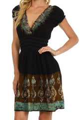 Sakkas Ladli Batik Embroidered Dress