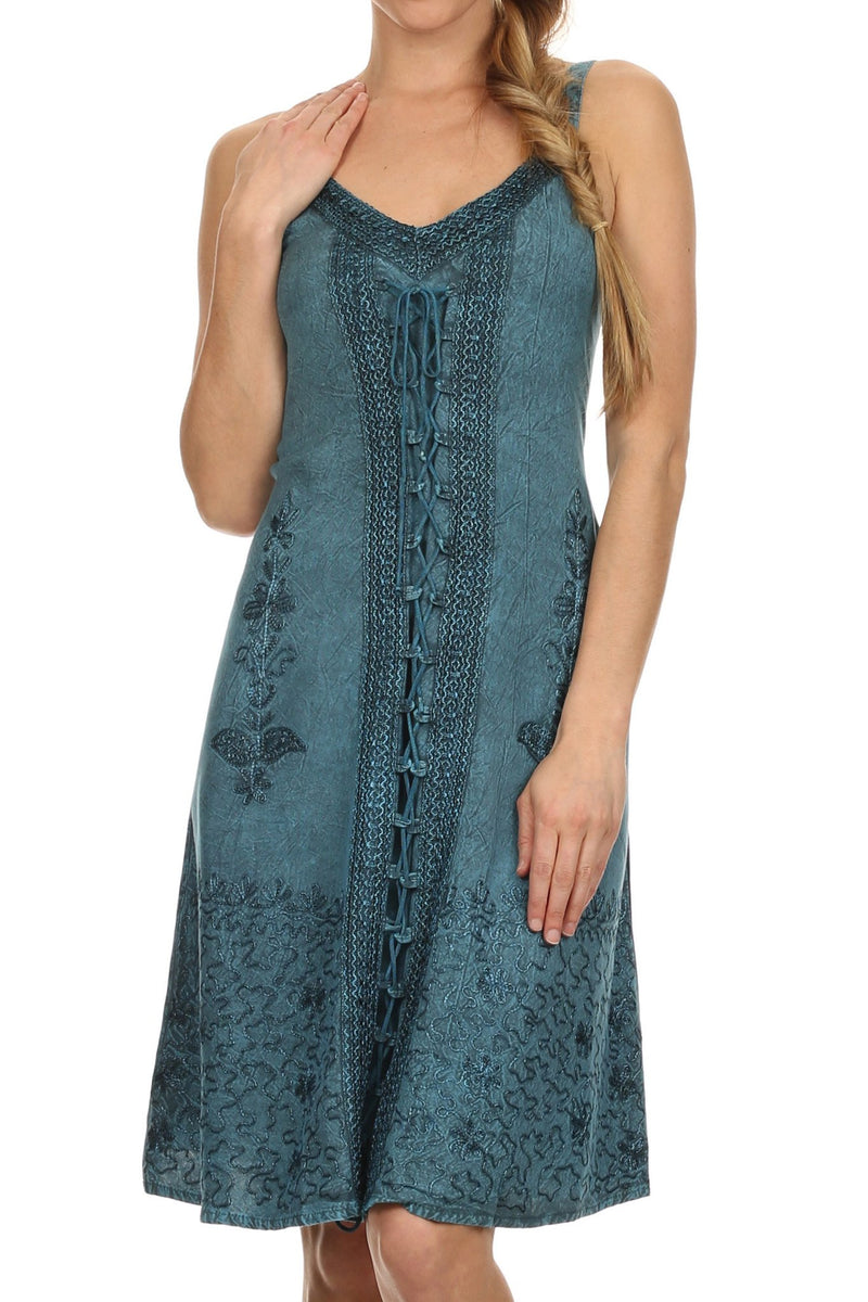 Sakkas Sakkas Jayanti Embroidered Rayon Dress