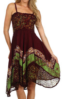Sakkas Aphrodite Embroidered Batik Dress