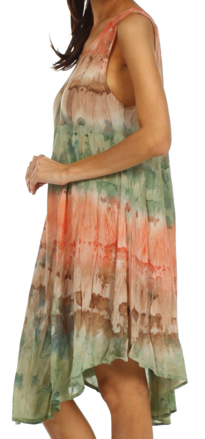 group-Coral / Green (Sakkas Desert Sun Caftan Dress / Cover Up)