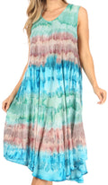 Sakkas Desert Sun Caftan Dress / Cover Up#color_Green / Blue