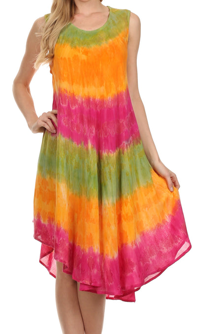 group-Green / Orange (Sakkas Desert Sun Caftan Dress / Cover Up)