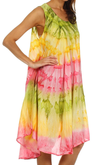 group-Green / Yellow (Sakkas Desert Sun Caftan Dress / Cover Up)