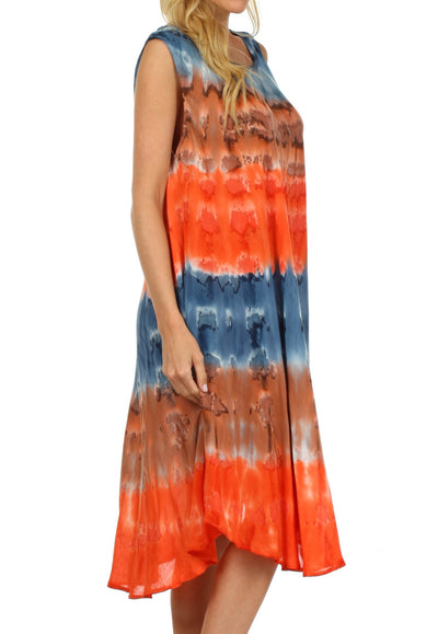 group-Navy / Orange (Sakkas Desert Sun Caftan Dress / Cover Up)