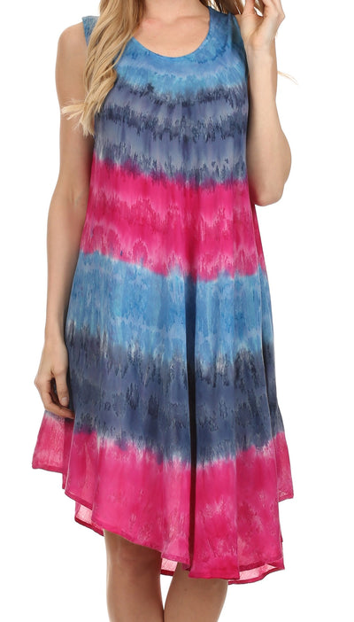group-Navy / Pink (Sakkas Desert Sun Caftan Dress / Cover Up)