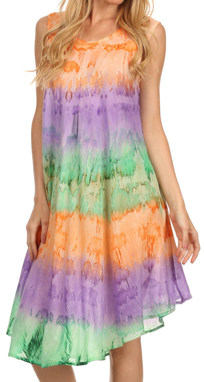 group-Orange / Purple (Sakkas Desert Sun Caftan Dress / Cover Up)