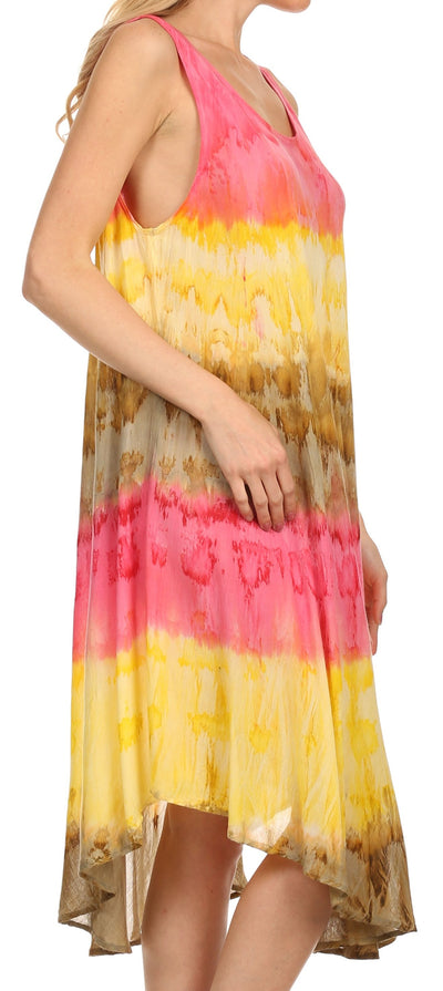 group-Pink / Yellow (Sakkas Desert Sun Caftan Dress / Cover Up)