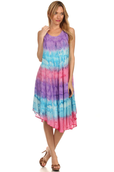 group-Purple / Blue (Sakkas Desert Sun Caftan Dress / Cover Up)