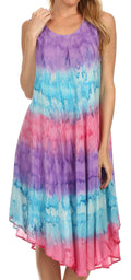 Sakkas Desert Sun Caftan Dress / Cover Up#color_Purple / Blue