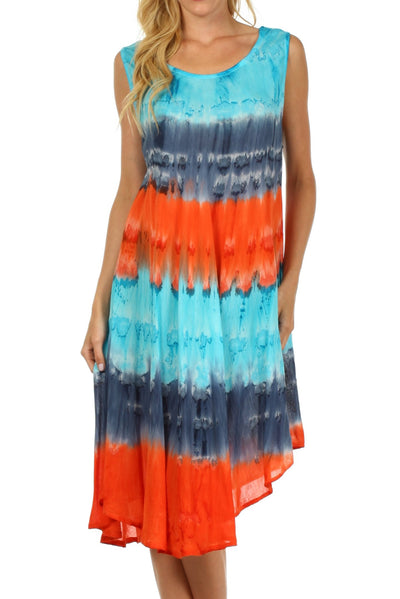 group-Turquoise / Navy (Sakkas Desert Sun Caftan Dress / Cover Up)
