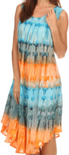 group-Turquoise / Orange (Sakkas Desert Sun Caftan Dress / Cover Up)