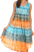 Sakkas Desert Sun Caftan Dress / Cover Up#color_Turquoise / Orange