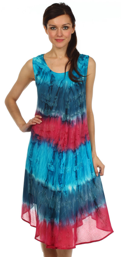 group-Turquoise / Pink (Sakkas Desert Sun Caftan Dress / Cover Up)
