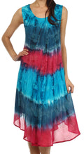 Sakkas Desert Sun Caftan Dress / Cover Up#color_Turquoise / Pink