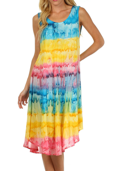 group-Turquoise / Yellow (Sakkas Desert Sun Caftan Dress / Cover Up)