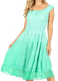 Sakkas Spring Maiden Ombre Peasant Dress#color_Spring Green