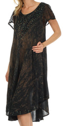 Sakkas Michiko Stonewashed Caftan Dress / Cover Up
