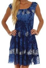 Sakkas Azura Gypsy Boho Peasant Batik Dress