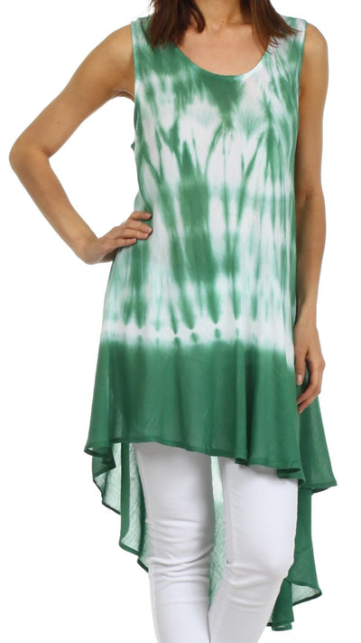 Sakkas Star Dancer Caftan Tank Hi Lo Dress / Cover Up