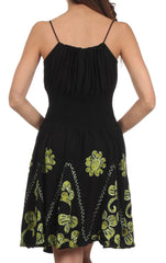 Sakkas Dharini Batik Smocked Empire Waist Dress